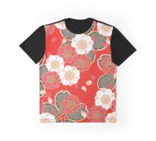 Vintage Japanese Wedding Kimono Pattern Graphic T-Shirt
