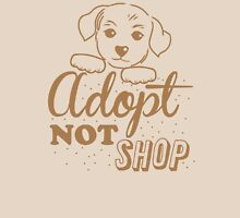 Adopt not shop PUPPY dog Womens Fitted T-Shirt