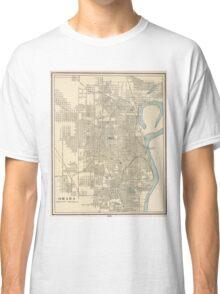 Vintage Map of Omaha Nebraska (1901) Classic T-Shirt