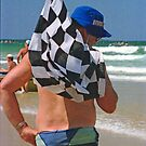 The Surf Boat Flag Man, Coffs Harbour, NSW, Australia by Adrian Paul