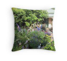 The Cottage Garden Throw Pillow