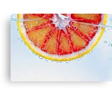 Macro Blood Orange Canvas Print