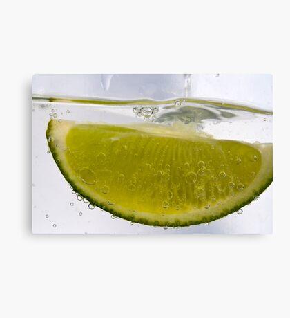 Macro Lime Canvas Print