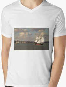 TS Royalist entering Poole Harbour Mens V-Neck T-Shirt
