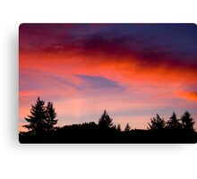 Red Sky At Night ... Sailors Delight Canvas Print