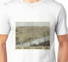 Vintage Pictorial Map of Omaha Nebraska (1868) Unisex T-Shirt