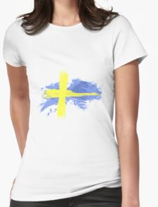 Sweden Flag Stockholm Womens Fitted T-Shirt