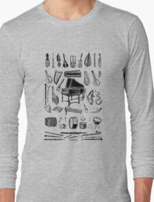 Vintage Classical Music Instruments Dictionary Art Long Sleeve T-Shirt
