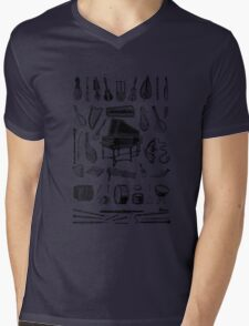Vintage Classical Music Instruments Dictionary Art Mens V-Neck T-Shirt