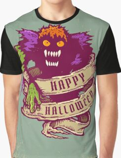 Monster and old ribbon for Halloween Graphic T-Shirt