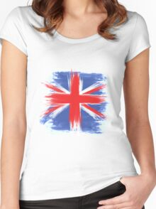 England Flag Great Britain Flag united kingdom Women's Fitted Scoop T-Shirt
