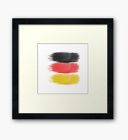 Germany Flag paint-brush Framed Print