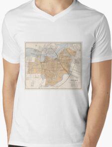 Vintage Map of Ottawa Canada (1915) Mens V-Neck T-Shirt