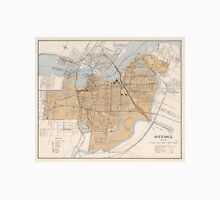 Vintage Map of Ottawa Canada (1915) Unisex T-Shirt