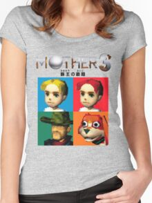 MOTHER 3 / EarthBound 64 Tiles (MOTHER 3 Logo) Women's Fitted Scoop T-Shirt