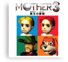 MOTHER 3 / EarthBound 64 Tiles (MOTHER 3 Logo) Canvas Print