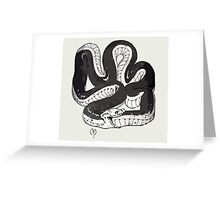 Chloe's Snake Shirt - Episode 5 Greeting Card