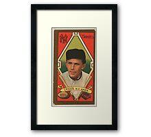 Benjamin K Edwards Collection Louis Criger New York Yankees baseball card portrait Framed Print