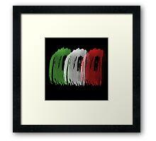 Italy Flag italian rome Framed Print