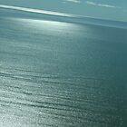 Lake Eyre blue velvet by Hugh Cross