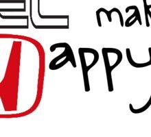 Vtec makes me happy  Sticker