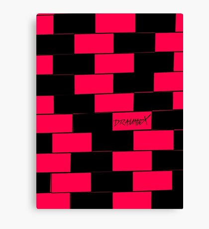 DramatiX Pink & Black Checkerboard Canvas Print