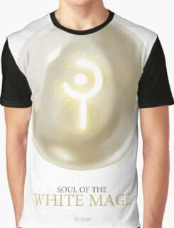 Soul of the White Mage -white Graphic T-Shirt