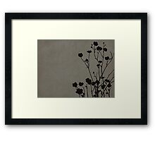 Buttercups in Gray Framed Print