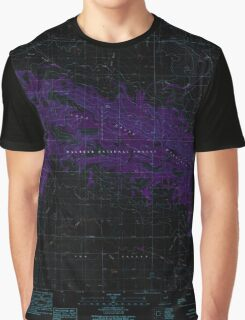 USGS Topo Map Oregon Fox 279944 1990 24000 Inverted Graphic T-Shirt
