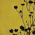 Buttercups in Mustard & Gray by Elle Campbell