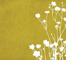 Buttercups in Mustard & White by Elle Campbell