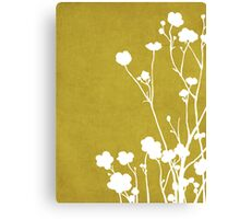 Buttercups in Mustard & White Canvas Print