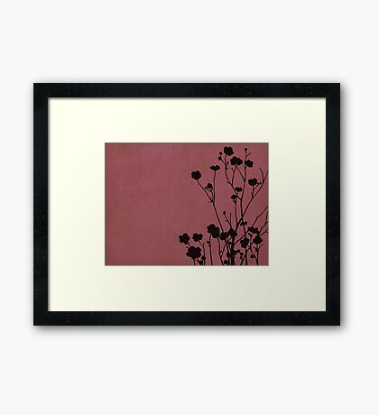 Buttercups in Pink & Gray Framed Print