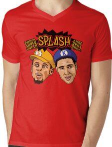 Super Splash Bros Mens V-Neck T-Shirt