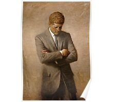 John F Kennedy Official Portrait by Aaron Shikler Poster