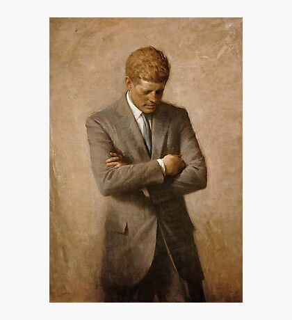 John F Kennedy Official Portrait by Aaron Shikler Photographic Print