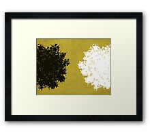 Queen Anne's Lace in Mustard & White Framed Print