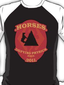 Skyrim Horses Defy Physics T-Shirt