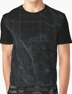 USGS Topo Map Oregon Tired Horse Butte 20110912 TM Inverted Graphic T-Shirt