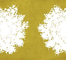 Queen Anne's Lace in Mustard & White by Elle Campbell
