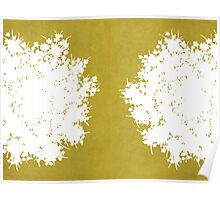 Queen Anne's Lace in Mustard & White Poster