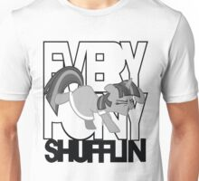 Everypony Shufflin in Greyscale!(For White Shirt) Unisex T-Shirt