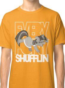 Everypony Shufflin in Greyscale!(For Black Shirt) Classic T-Shirt