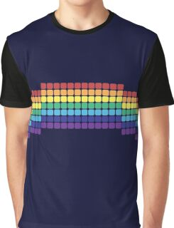 Retro Rainbow Graphic T-Shirt