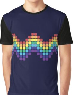 Retro Rainbow - Wave Graphic T-Shirt