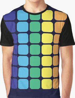 Vertical Rainbow Square - Dark Background Graphic T-Shirt