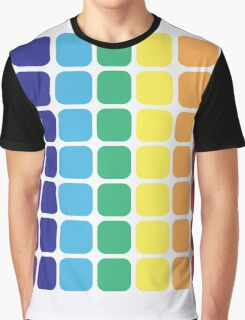 Vertical Rainbow Square - Light Background Graphic T-Shirt