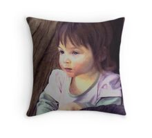 Little child portrait Throw Pillow