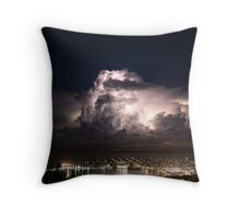 Spectacular Lightning Storm #1, Port Lincoln, South Australia Throw Pillow