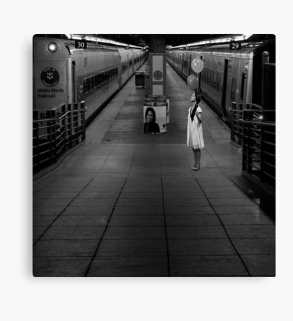A Woman Gathering Stillness Canvas Print